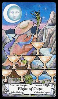 betekenis tarotkaart Bekers Acht