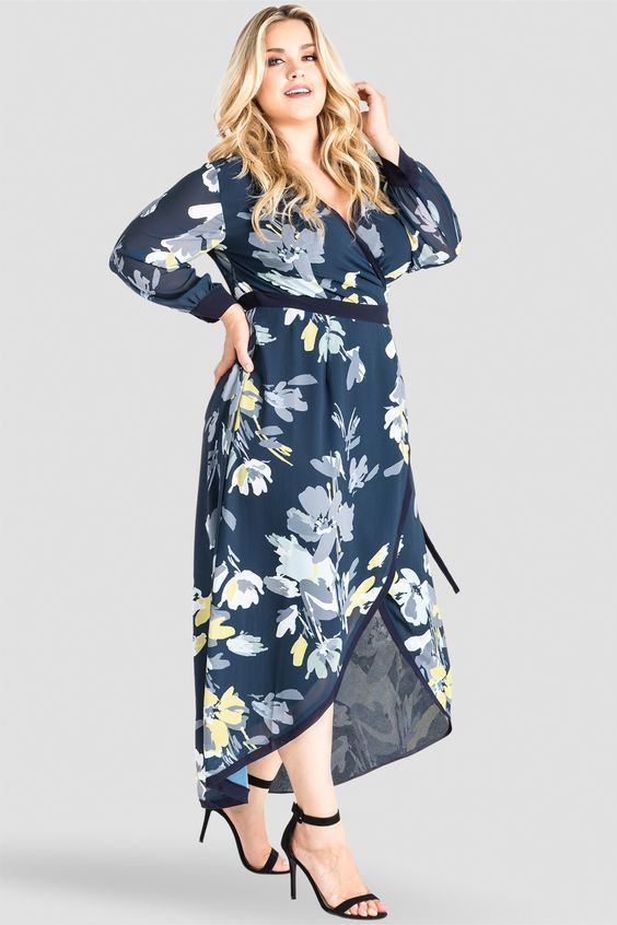 Floral Maxi Dresses in Plus Sizes. Fun New Looks in Floral Patterns ...