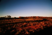 Nationalpark Kings Canyon bei Sonnenuntergang