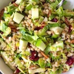 Sorghum Apple Brussel Sprouts Salad