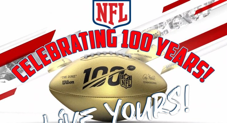 The NFL Celebrates 100 Years!