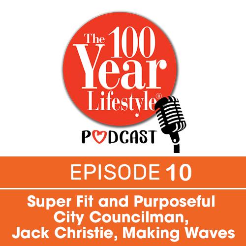 the 100 year lifestyle podcast orange image