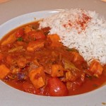 Hearty Coconut Sweet Potato Curry with Avocado