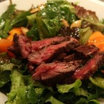 Pan-Seared Lean Steak Salad with Oregano-Orange Chimichurri