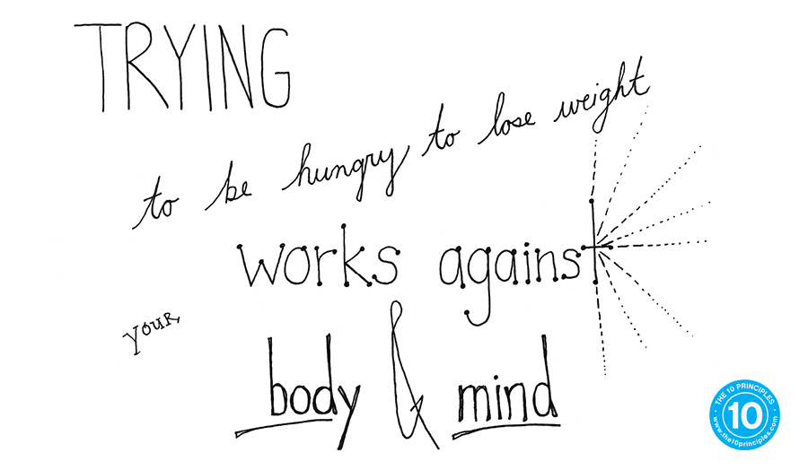 hungry to lose weight - trying to be hungry to lose weight