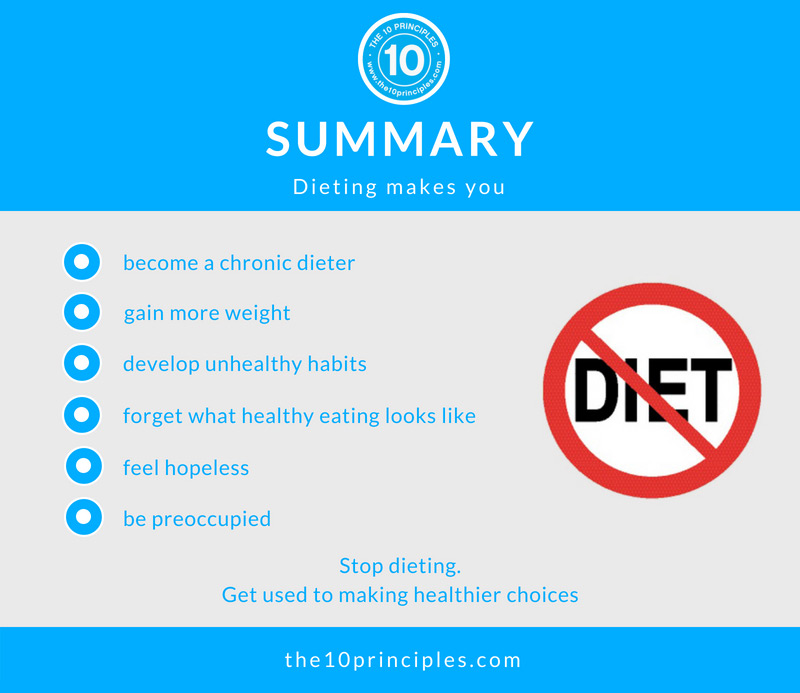 stop dieting - Summary