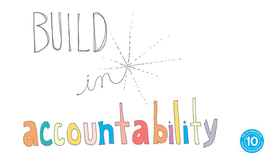 break habits - build in accountability