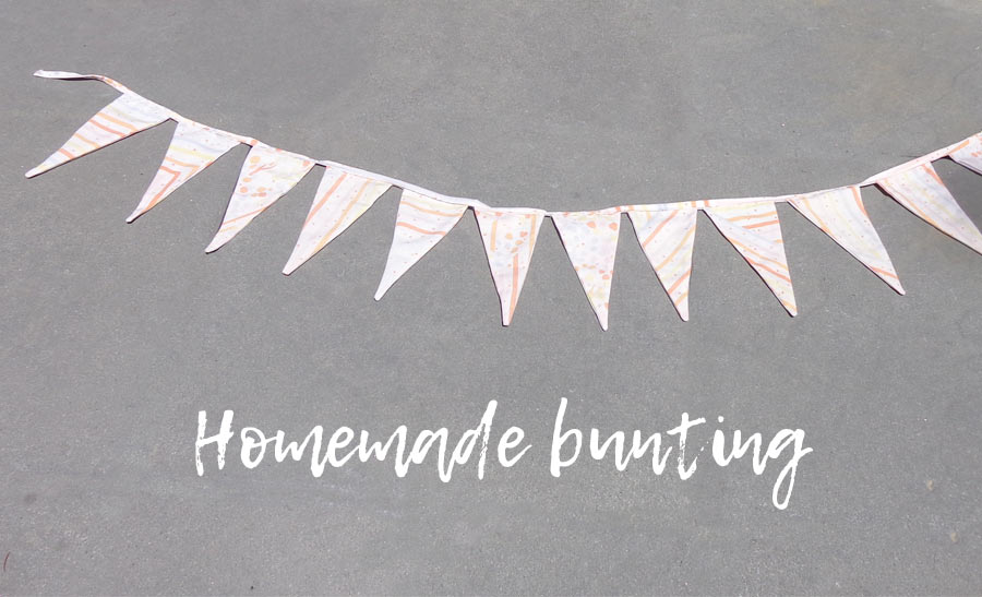 Dress Up - Homemade Bunting