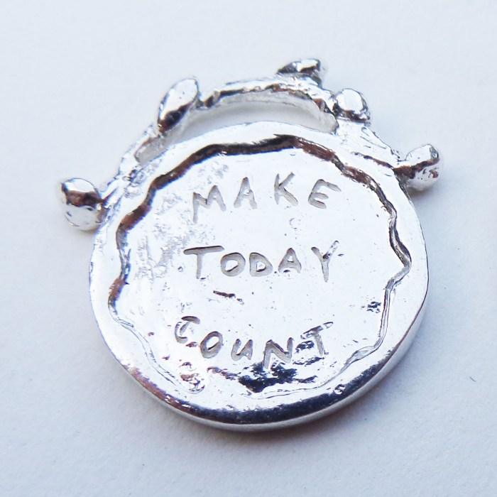 Make Today Count - Silver Necklace