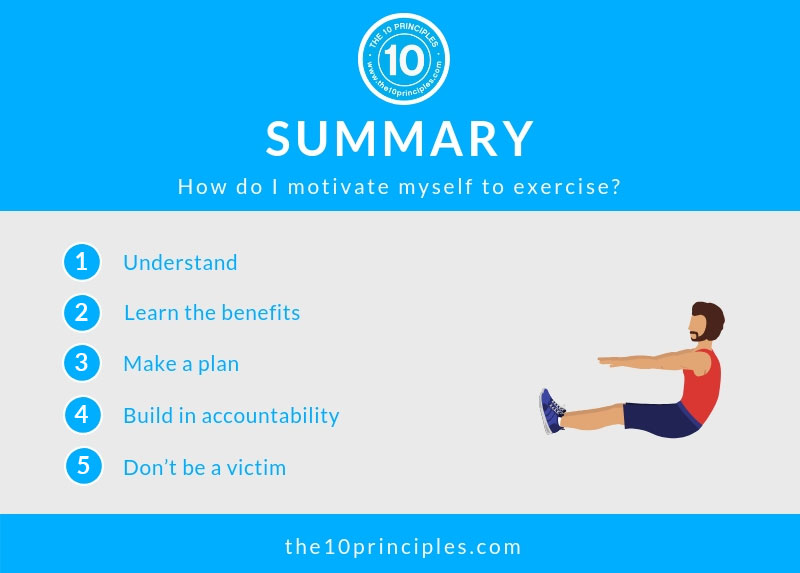How do I motivate myself to exercise? - Summary
