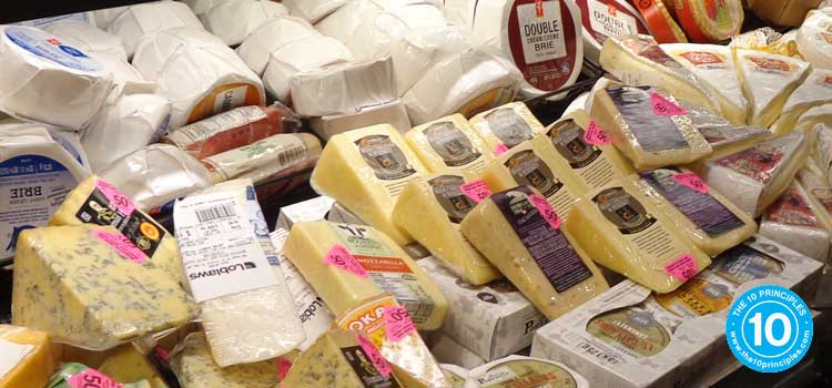 Eat most cheeses rarely