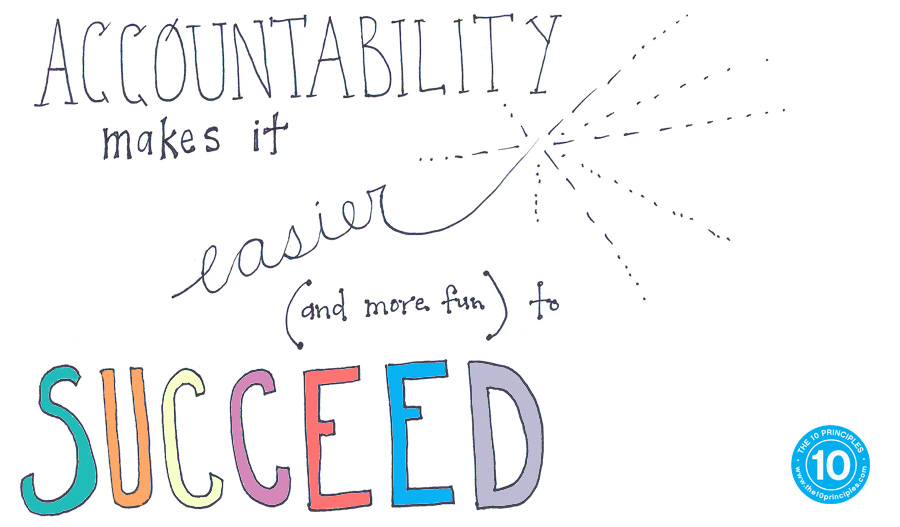 Accountability makes it easier (and more fun) to succeed!
