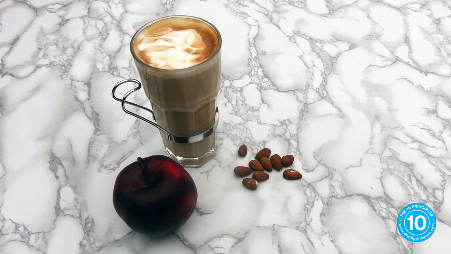 how do I stop over eating - almonds, apple and latte