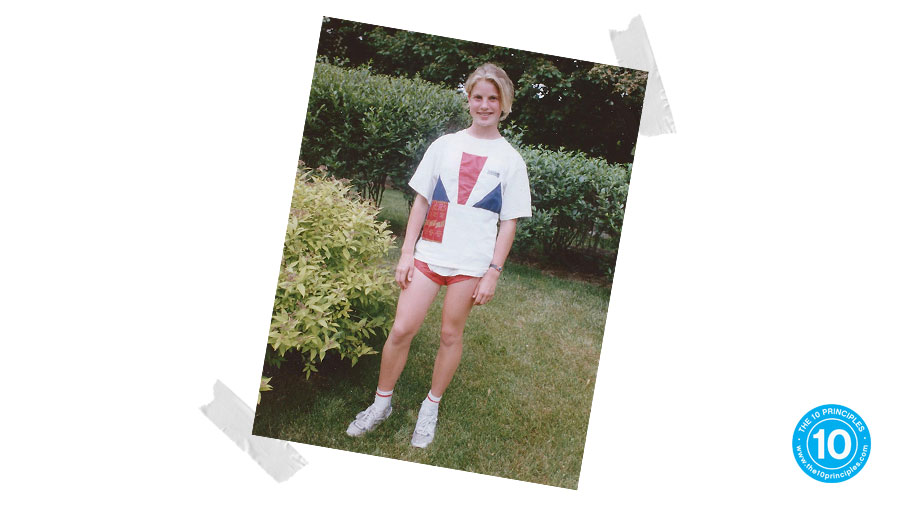 Here I am at 14 years old—after our Gr. 8 Track & Field Day