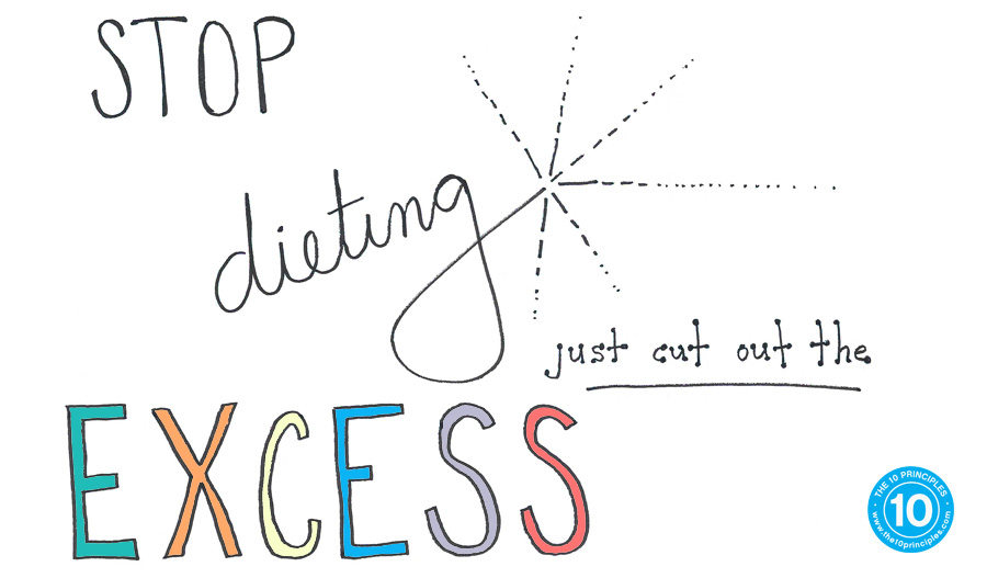 Stop dieting. Just cut out the excess!