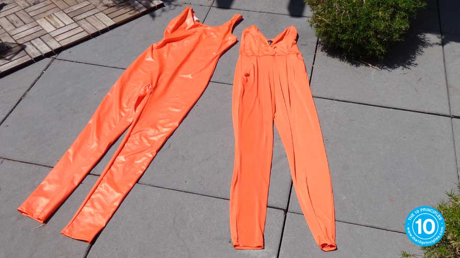 Big thanks to Alex who found these two orange jump suits