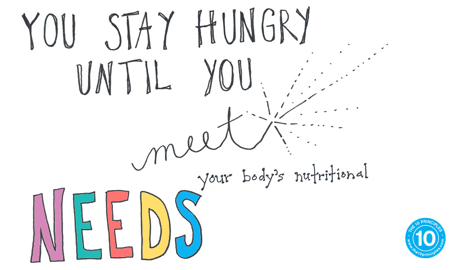 you stay hungry until you meet your body's nutritional needs!