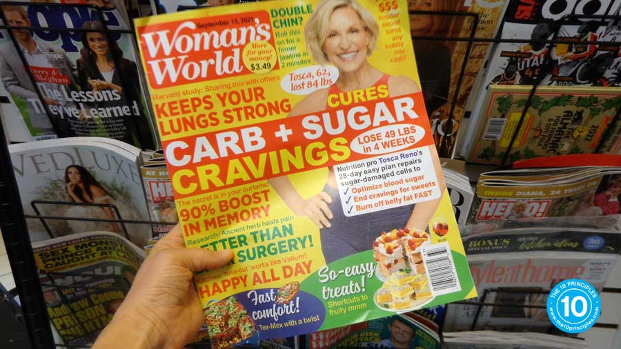 Like I spent all my savings on magazines to learn more about diets.