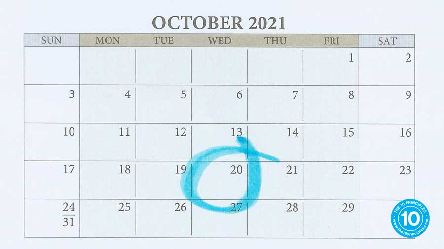 Oct. 20th in your calendar