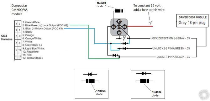 2000 lexus gs400 compustar 900as door lock relay