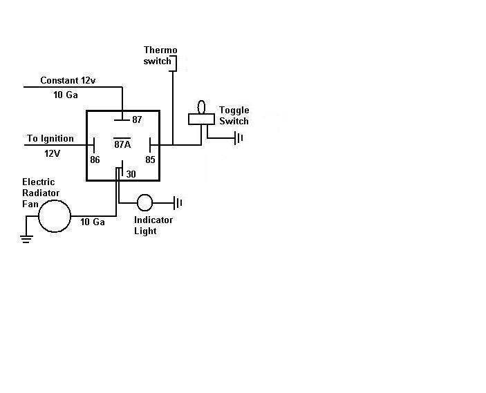 fan relay schematic fan printable wiring diagrams database electric cooling fan wiring diagram nilza net