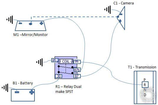 backup cam wiring diagram