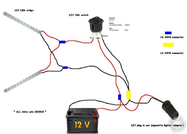 12v led lights circuit diagram - facbooik, Wiring diagram