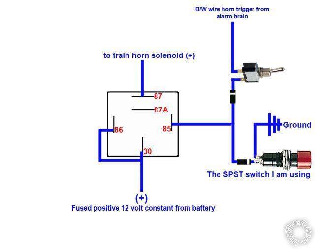 download car alarm relay wiring diagram 12 volt air horn
