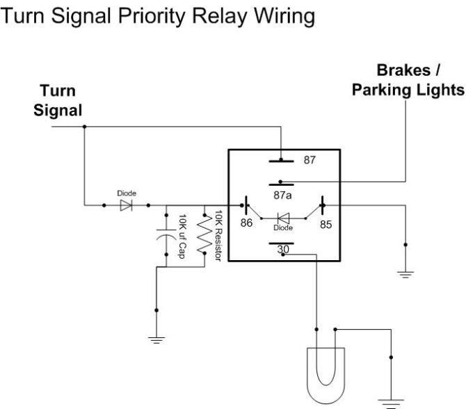 relay for turn signal/brake priority