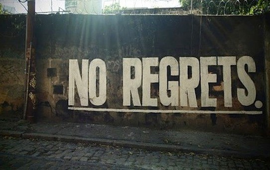 A Single Word Precedes Most Regrets