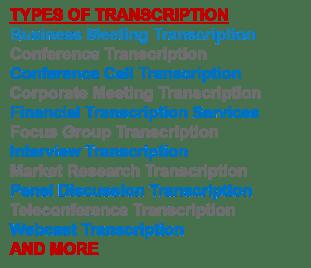 list of business transcription services