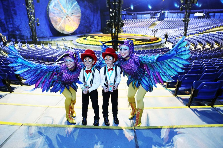 The2Woodies – Birthday at Cirque du Soleil's Luzia Show