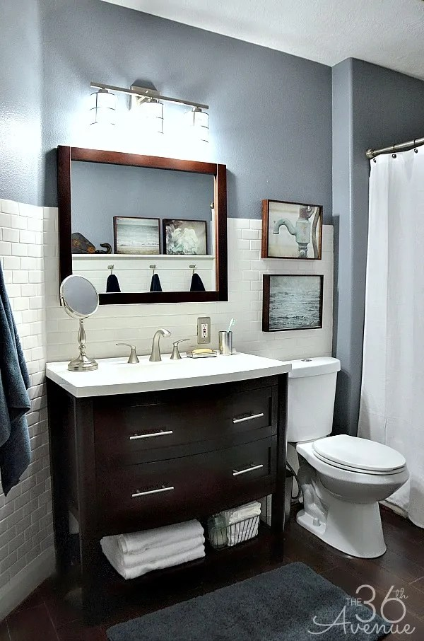 10 beautiful bathroom makeovers flooringinc blog for Small bathroom designs bloggers
