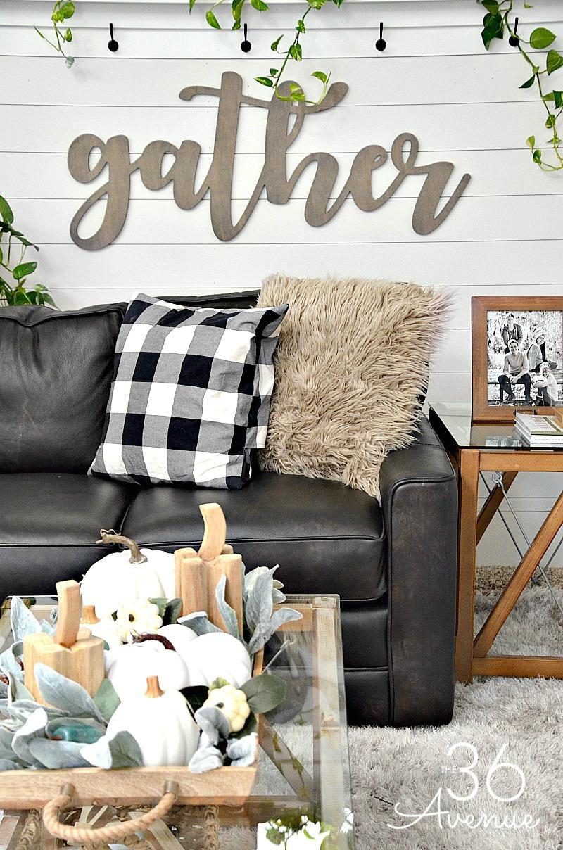 Living Room Farmhouse Decor Ideas | The 36th AVENUE on Curtains For Farmhouse Living Room  id=69893