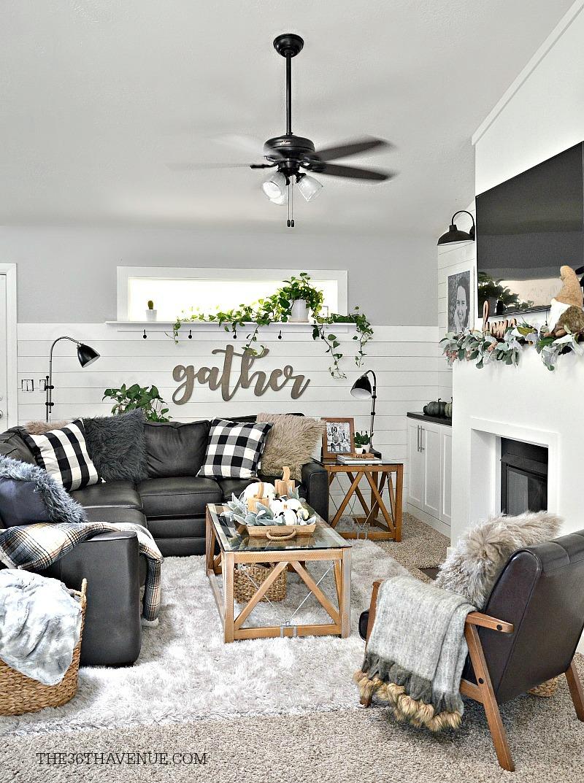 Living Room Farmhouse Decor Ideas   The 36th AVENUE on Farmhouse Style Living Room Curtains  id=64165