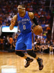 Westbrook started to come in to his own playing more under control. Photo courtesy of www.usatoday.com