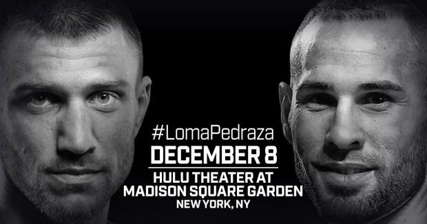 December 8: Vasiliy Lomachenko and Jose Pedraza Set for Lightweight Unification in New York City