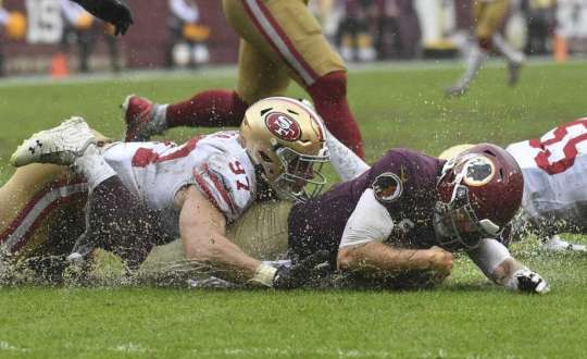 Redskins Offense Hampered By Weather And The 49ers' Defense In 9-0 Loss