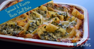 Thermomix Spinach and Ricotta Pasta Shell Bake