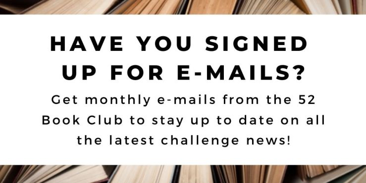 The 52 Book Club 2021 guide, helpful tips: don't forget to subscribe to our monthly emails and stay up to date on all the challenge news!