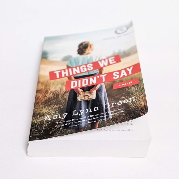 Things We Didn't Say book slightly open on white background