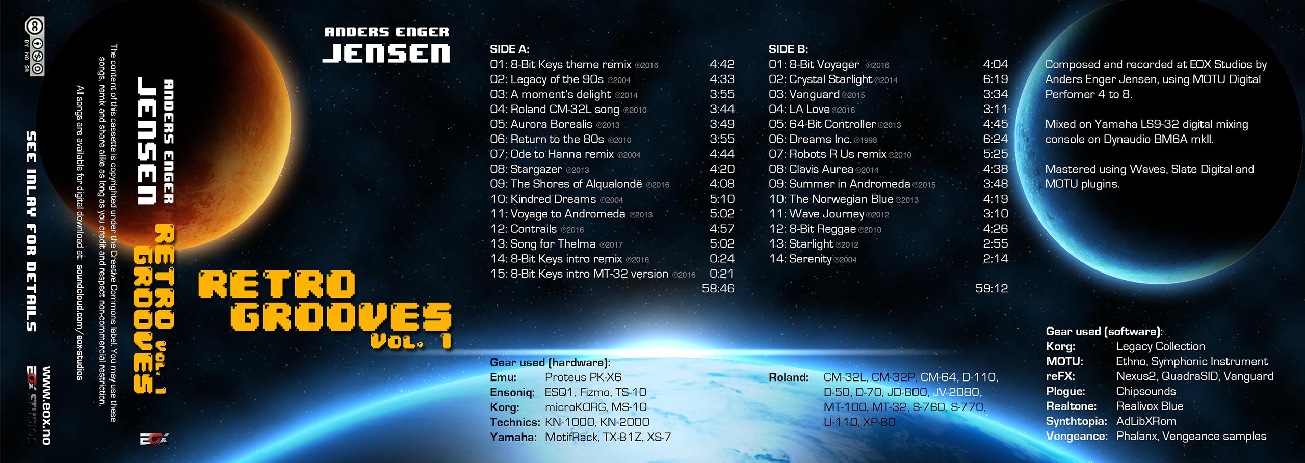 Anders Enger Jensen - Retro Grooves Cassette Vol 1 + Digital Download