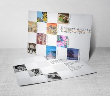'Unknown Artists' Promo Flier Design, 2010