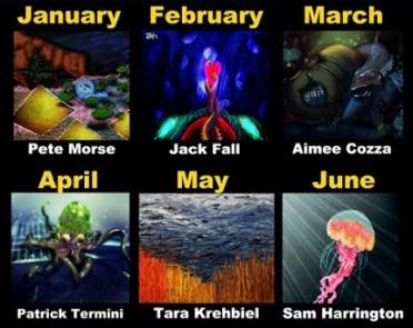 January through June 2015 Artists