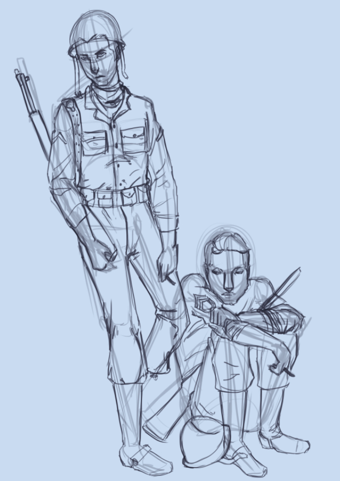 Squadmates Digital Sketch