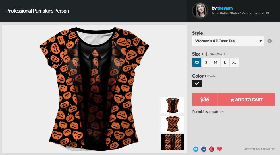 David S Pumpkins T Shirt Costume