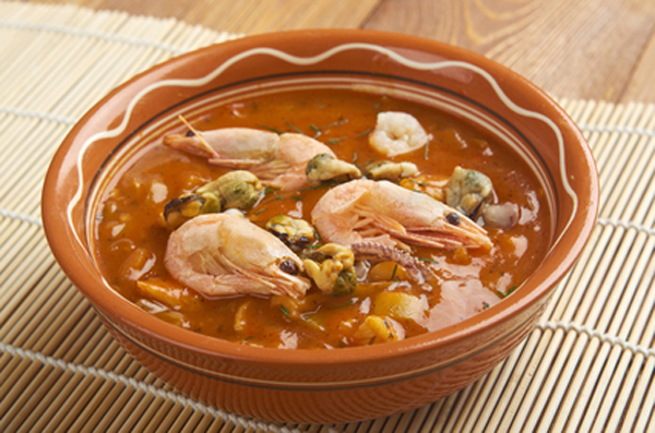 A soup made with fish stock and traditionally called Fish Chowder