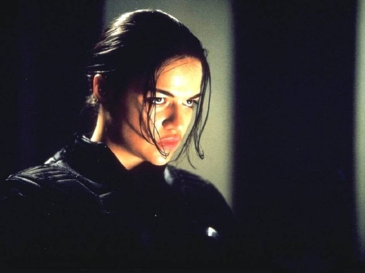 Michelle Rodriguez in Resident Evil: Love when she gets all 'Forest Whittaker' on me.