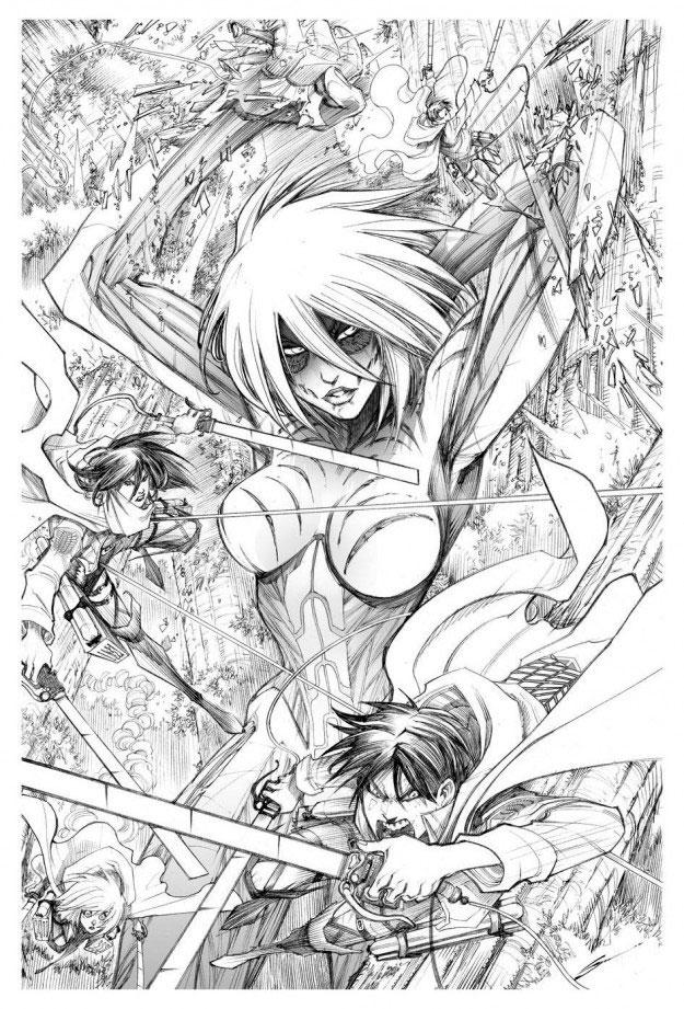 Female Titan in Marvel / Attack On Titan comic. THE ACTION PIXEL @theactionpixel