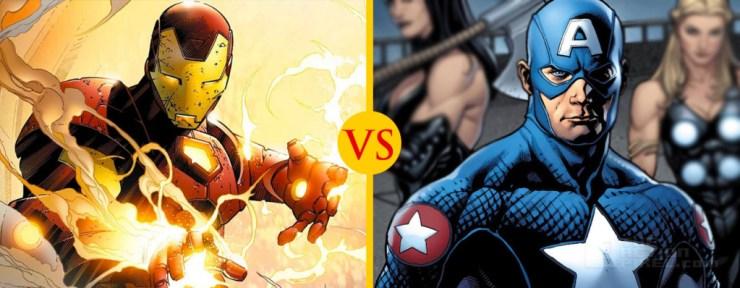 Iron Man versus Captain America THE ACTION PIXEL @theactionpixel